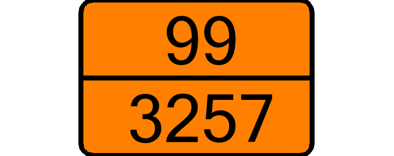UN 3257 ▸ ELEVATED TEMPERATURE LIQUID, N.O.S., at or above 100 °C and below  its flash-point (including molten metals, molten salts, etc.